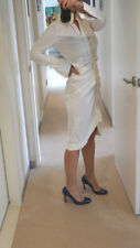 Willow by Kit Willow White Shirt Style Stretch Dress US 6 AU/UK 10 RRP $450