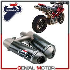 Ducati Hypermotard 1100 2008 08 Exhaust Termignoni Terminals Carbon