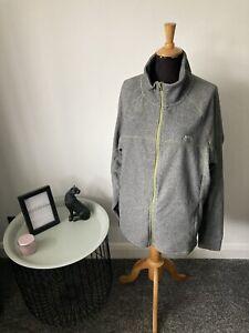 BN Men's Trespass Grey Fleece Jacket Full Zip Jumper Size XXL