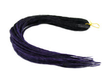 ELYSEE STAR DREADS BLACK DARK PURPLE DREADLOCKS DOUBLE ENDED SYNTHETIC DREAD