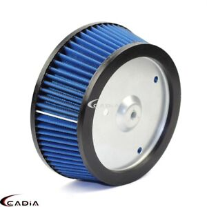 Blue Motorcycle Air Filter Cleaner Element For Harley Dyna 883 1200 XL Fatboy