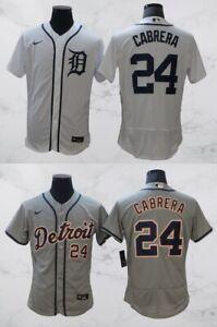 Detroit Tigers #24 Miguel Cabrera FlexBase Men's Stitched Jersey