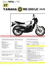 YAMAHA RD 350 LC ( 4LO 4L0 ) RDLC Fiche Technique Moto 000308