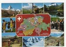 Switzerland, Map Postcard #3, B216