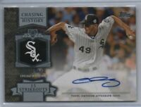 2013 Topps Chasing History Autograph #CHA-CSA Chris Sale Chicago White Sox Auto