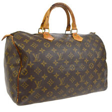 LOUIS VUITTON SPEEDY 35 HAND BAG MONOGRAM CANVAS LEATHER dx M41524 30620