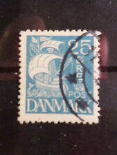 DANEMARK, 1927-30, timbre 183, VOILE BLANCHE, BATEAU, VOILIER, oblitéré