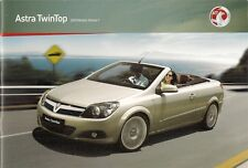 Vauxhall Astra TwinTop 2009-10 UK Market Sales Brochure Air Sport Design