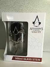 Genuine Assassins Creed Unity Logo Gift Boxed Large Beer Stein Glass