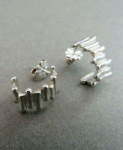Tiffany & Co. Silver Hoop Earrings Hallmarked