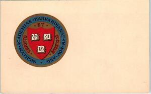 RPPC  HARVARD UNIVERSITY ~ Heraldic COAT OF ARMS Seal ca 1910s  Postcard