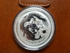 Perth Mint 2012 Lunar Dragon 5 oz Silver Bullion Coin
