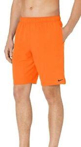 Nike Solid Swim Trunk, Orange, Men's Medium