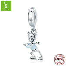 Skiing boy Soild 925 Sterling Silver Charms Bead Women Girls Fashion Pendant New