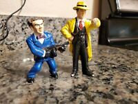 """Vintage Dick Tracy Action Figures 3.5"""" PVC Applause Lot of 2 Bugsy"""