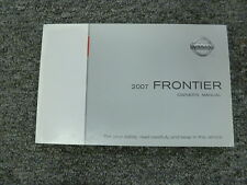 2007 Nissan Frontier Pickup Truck Owner Manual XE SE NISMO LE Off Road 4WD