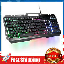 Wired Gaming Keyboard,Mechanical Feeling Colorful Rainbow LED Backlit USB