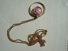 Chain Necklace Watch 17 Jewels working Vintage ladies Russian Gold Toned Yanka