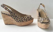 Stuart Weitzman Leopard Print Platform Sandals discount fake clearance best seller eX3baia