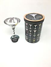 NIB! Lolita Spooky Juice Martini Glass Hand Painted HALLOWEEN