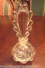 ART DECO FAN SHAPED TOP PERFUM BOTTLE, droplet pattern,clear glass[4]