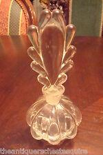 ART DECO FAN SHAPED TOP PERFUM BOTTLE, droplet pattern,clear glass[4]