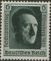 Stamp Germany Mi 650 Sc B106a 1937 War 3rd Reich AH Birthday Party Rally MNH