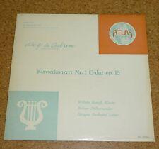 LP Record Beethoven Kempff Piano Klavierkonzert Nr 1 C dur op. 15 Atlas Record