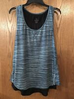NWT Tangerine Womens Layered Tank Tops-Color Teal,Black Size, 2X-Large