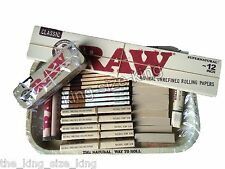 RAW Gift Set 1970's Style Small Metal Tray And Raw King size Rolling Papers Hemp