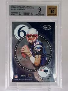 2000 Playoff Contenders Round Numbers RC Auto TOM BRADY /BULGER BGS 9, Auto 10!!