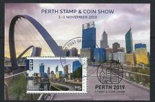 AUSTRALIA 2019 PERTH STAMP AND COIN SHOW MINIATURE SHEET FINE USED