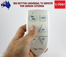 Big Button Easy Use Universal TV Remote Control for Elderly Senior Citizens