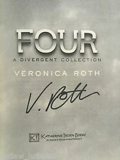 Veronica Roth Four Autographed Signed Book COA