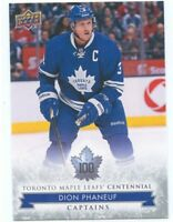 2017 UPPER DECK TORONTO MAPLE LEAFS CENTENNIAL SP #109 DION PHANEUF *50077