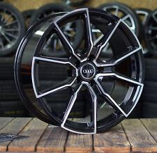 18 Zoll V-Wheels V1 Alu Felgen 5x112 schwarz poliert für Audi S-Line RS S5 Q2 Q3