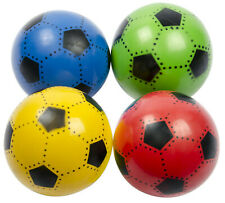 1 x Fußball Plastik Kunststoff Ball Kinder Wasserball Rot Grün Blau Gelb 23 cm