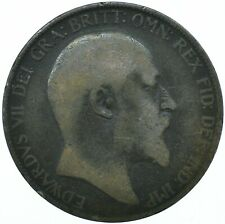 1905 ONE PENNY COIN EDWARD VII GREAT BRITAIN BEAUTIFUL COLLECTIBLE    #WT31315
