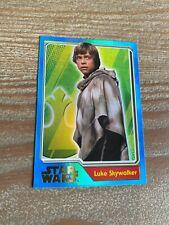 Topps 192 Luke Skywalker Foil Card / Shiney / Shiny