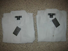 NWT NEW 2-Lot Nike Golf Mens Button-Front Shirts S Casual Dress Lounge Gray Club