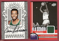 OSCAR ROBERTSON BIG O CERTIFIED AUTOGRAPH AUTO SPORTKINGS & UC GAME USED JERSEY