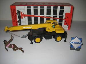 Gottwald Wiv 46-21 Autokran Jaune #3074.3 Conrad 1:50 Emballage D'Origine