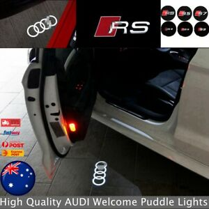 4x Projector Puddle Lights Welcome Courtesy Door For Audi All Series AUS