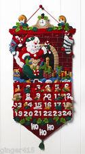 "Bucilla ""MUST BE SANTA"" Felt Christmas Advent Calendar Kit-Fireplace Clock 86312"