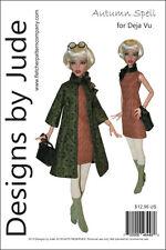 "Autumn Spell Doll Clothes Sewing Pattern for 16"" Deja Vu Dolls Tonner"