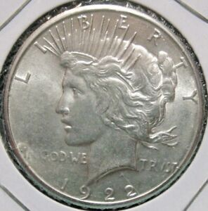 1922-S Peace Dollar - High Grade (AU/BU)