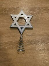 Christmas Tree Topper - Jewish Star, Star Of David, Silver