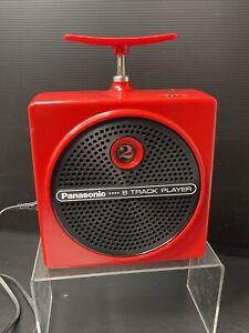 Rare Vintage CLEAN Panasonic TNT 8-Track Player Red RQ-830S