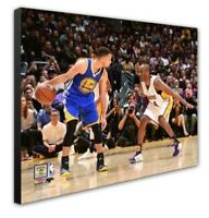 Los Angeles Lakers Kobe Bryant Steph Curry 16x20 Photo Picture framed Canvas