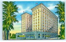 *1930s Artist Drawing of the Senator Hotel Sacramento Ca Vintage Postcard A8